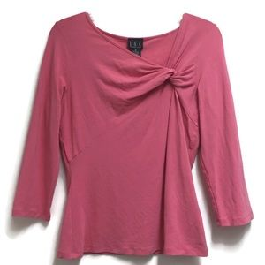 INC International Concepts Pink 3/4 Sleeve Blouse